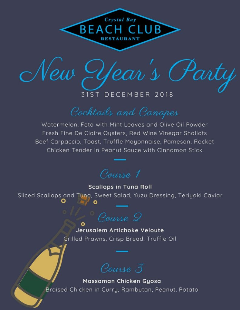 Crystal Bay New Years Eve Menu 1