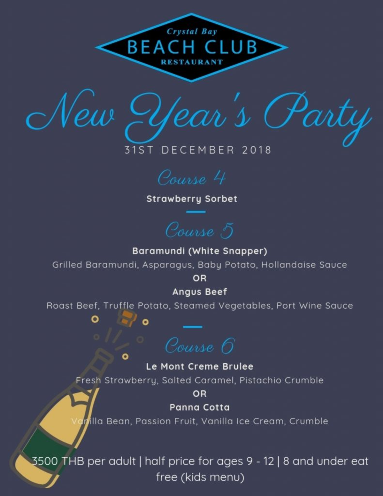 Crystal Bay Beach Club New Years Eve 2